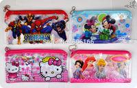 20x PVC Cartoon Charactor Pencil Case Spideman Man Pen Bag Stationery School Supplies Boy's Girls Children Kid Favor Party Gift