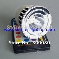 5pcs/lot GU10 5W RGB Edison LED spot light