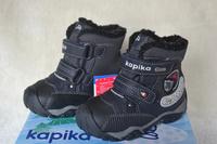 Russia Kapika Child Snow Shoe Keep Warm And Waterproof Boots Kids Slip-Resistant Snow Boots Dark Blue