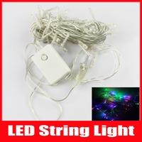 2014 New Christmas Lights 5m 50 Led AC 110V 220V Led String Light luminaria Garden Tree Outdoor Decoration,1pc/Lot,Free Shipping