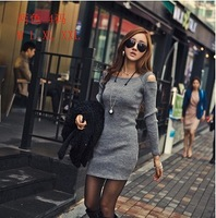 Spring and Autumn New Women Sexy Strapless package Hip Nightclub Slim was Thin long-sleeved Dress