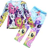 Casual My Little Pony Kids Pijamas Set For Girls Baby Clothing Cartoon Sleepwear Autumn Long Sleeve Children's Pajamas PS089