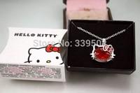 3 pcs/lot fashion women jewelry accessories hello kitty original box packing necklaces & pendants