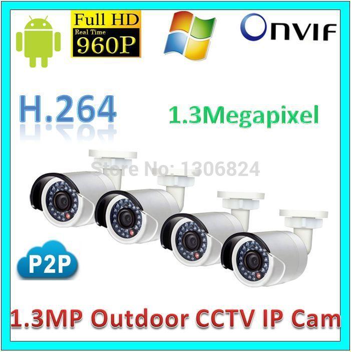 Free shipping wholesale Video Surveillance Network IP Camera Security Waterproof P2P 1.3Megapixel Outdoor 960P CCTV WebKamera(China (Mainland))