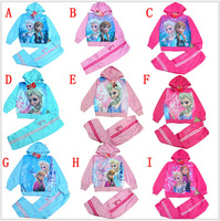 DHL/EMS free Wholesale (20sets/lot) Children/kids/girls Spring Autumn FROZEN tracksuit/ clothing set /sweatshirt/sweater/hoodies