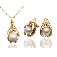 2014 Hot Sale Fashion Pearl Necklace/Earrings Wedding Jewelry Sets For Women,TZ-1344