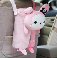 Car tissue box car hanging pumping paper box auto upholstery supplies cartoon rabbit