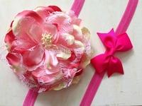 Drop Shipping RETAIL baby hair accessories girls headband flower lace bow headbands for girls flower hairband girls