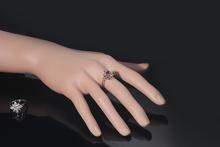 ROM 2014 New fashion Topaz zirconia diamond rings Clear Blue Ruby Emerald 18K White Gold Plating