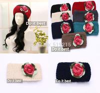 new Women knitted headband winter flower crochet headbands lady Headwrap10 pcs/lot,Free Shipping
