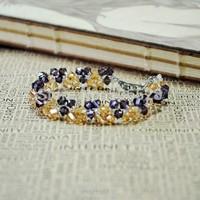 Direct Selling 2014 Free Shipping 4PCS/LOT Fashion Handmade Bead Bracelet  Elegant Romantic Crystal Bracelet For Wowen Party