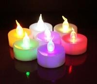 Colorful flash electronic LED candle