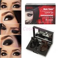 Pro 2 Colors Waterproof Long lasting Eyeliner Gel Cream Eye Liner