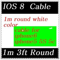 High quality cable charger For iPhone6 6 plus iPhone 5 5S 5C  8 Pin USB Cable For ios8 CN 10pcs/lot