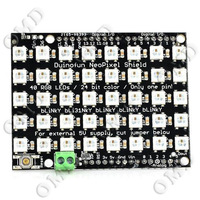 Full-color 40 RGB LED Dot Matrix Module Expansion Board