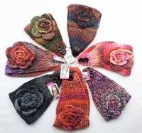 2014 New Vintage Colorful Flower Women Knitted Headwrap Knitting crochet headband ear warmers For Girl Women