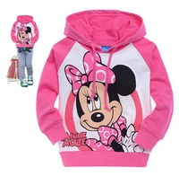 Good Quality Baby Cotton Cartoon clothes Girl's  top shirts Long sleeve Hooded Sweater Kids  Hoodies