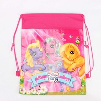 The Cartoon my little pony horse Drawstring Backpack School/Swim Bag Kids Christmas Birthday Party Favourite Gift DB105