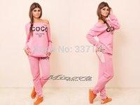New pink coco sweatshirt+pants clothing set sport suit women brand design 3d printed sweatshirt tracksuit sports costumes