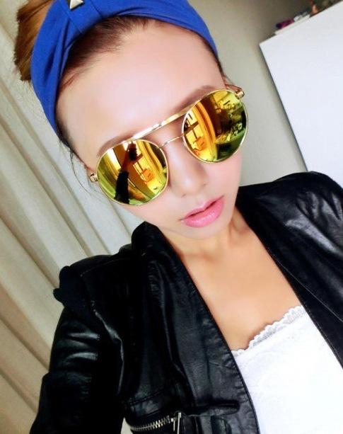 The influx women sunglasses glasses 2014 new female star models sheet metal frame sunglasses outdoors oculos feminino(China (Mainland))