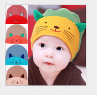 2014 new Baby Hat Toddlers Boys Girls Caps Newborn 3D cat Sleep Hats Spring Autumn Baby Cotton Cartoon Animal Cap gift Wholesale