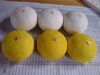 30pcs/lots 5cm white and yellow steam bun squishy