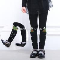 1 PSC retail Korean children autumn cotton leggings children pants kids girls leggings nine small frog new winter