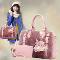 free shipping 2014 ht fur bag bag sell rex rabbit hair fur bags single shoulder portable krest- body bag large capacity