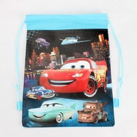 1pcs the Wonderful Cartoon Cars Drawstring Backpack School/Swim Bag Kids Christmas Birthday Party Favourite Gift DB082