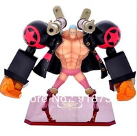 "Free Shipping Cool 6.3"" One Piece Anime Movie Version Franky Red PVC Action Figure Collection Model Toy"