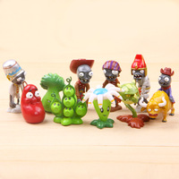 free shipping retail (1set=10pcs) Plants vs. Zombies 2: Its About Time/plants vs. zombies 2 pvc action figures toy/decorations