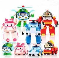 Robocar Poli Robot Car Transformation Toys Boy Girl Gift 4pcs/Lot
