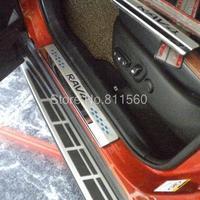 High Quality Stainless Door Sill Scuff Plate sill plate for Toyota RAV4 RAV 4 2014
