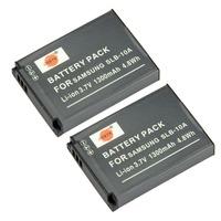 2PCS DSTE SLB-10A Battery compatible for Samsung WB750, WB800F, WB850F, WB1100F, WB2100, ES50, ES55, ES60, EX2F