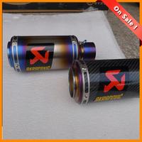 2014 new  titanium alloymotorcycle muffler carbon fiber  Black color