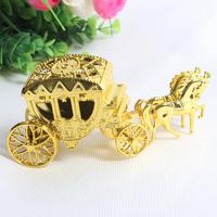 Free Shipping 20pcs Cinderella Theme Silver/Gold Carriage Design  Birthday Supplies/ Wedding Favor Box/Candy Box/Wedding Box
