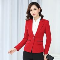 Autumn Formal Blaser Women Blazers & Jackets Female Red Blazer Feminino 2014 Elegant Ladies Office Uniform Styles Work Outfit