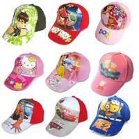 High quanlity  batman cap  Frozen baseball cap Despicable me spider-man Dora PEPPA PIG sun hat 5pcs/lot