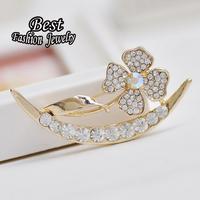 2014 Fashion Luxury Flowers Collar Buckle Clip brooch  Women Scarf Wedding Decoration Accessories XZ091