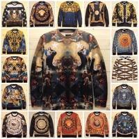 3D Mall 2014 Autumn Italian Golden Floral Space Galaxy Luxury Smooth Material Men's Women Sweatshirt Hoodies Brand New Medusa