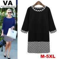 vestidos vestido de festa casual, cheap plus size women clothes, black blue womens winter clothing with plaid xxxxl 3xl 5xl 4xl