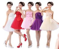 HOT women Wedding dress 7 color 2014 new fashion short paragraph sister group women bridesmaid dress women Princess Dress S-XL