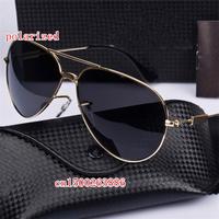 New unisex models polarized sunglasses classic retro black sunglasses 3025