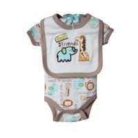 New 2014 Brand Baby Bodysuits + bibs Newborn Cotton Body Baby shore Sleeve Underwear Next Infant Boys Girls Pajamas Clothes