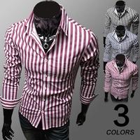 Free shipping 2014 new AM Brand shirt Slim Casual  men Stripe shirts High Quality Mens dress shirts long sleeve men shirt 14CS23
