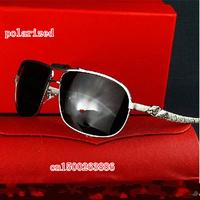Wholesale brand of high-end luxury new men's polarized sunglasses tide big box sun glasses 0672
