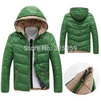 Plush Size Winter Coat Men Duck Down Jacket  Casual  Warm Male Overcoat Parka Outwear Hooded Down Coat