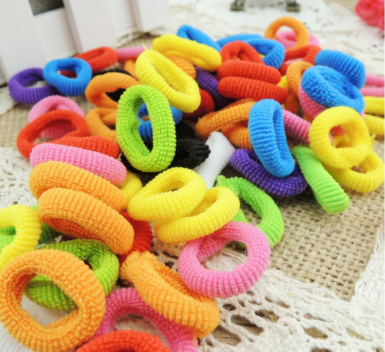 New 2014 100X Girls Toddler Kids Elastic Hair Bands Bobbles Bows Boutique(China (Mainland))