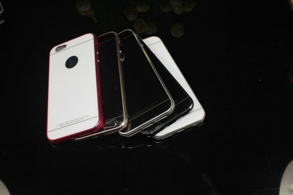 20pcs/lot free shipping luxury aluminum case for iPhone 6(China (Mainland))