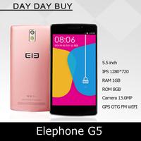 2014 Original Elephone G5  MTK6582 Quad Core  Cell Phones 1GB RAM 8GB ROM 13.0M GPS 1280*720 5.5inch IPS ScreenSmartphone